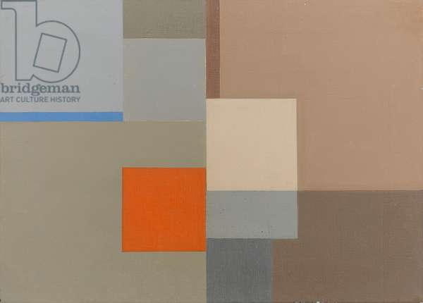 Abstraction with Orange Square, 1960-81 (oil on canvas)