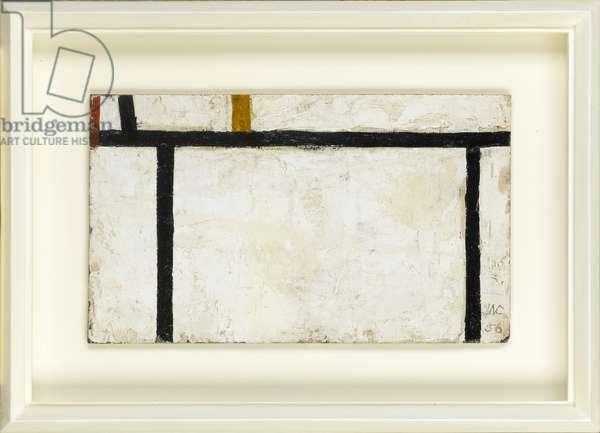 Grid, 1956 (oil on panel)