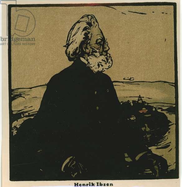 Henrik Ibsen (chromolitho)