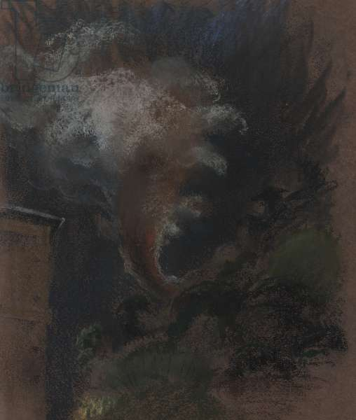 Hell Fire, seen from C.P.O., 1989 (pastel on paper)