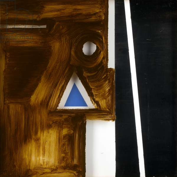 Shapes in Movement II, 1958 (oil on two Perspex sheets)
