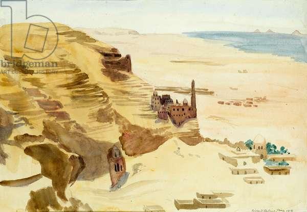 Cairo, 1919 (w/c on paper)