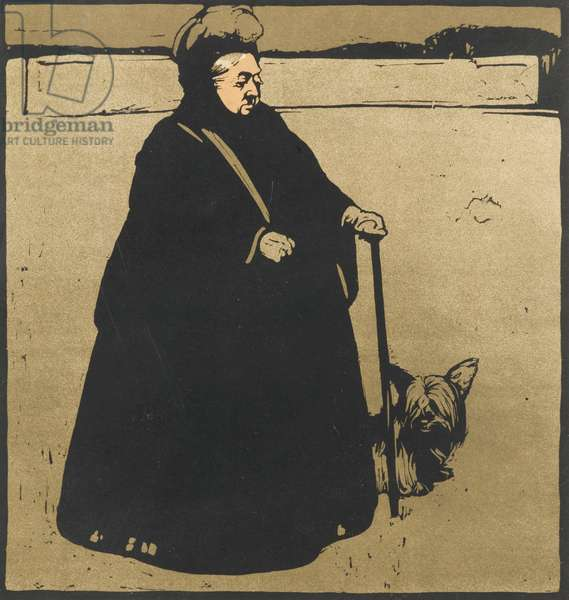 Queen Victoria, 1899 (colour litho)