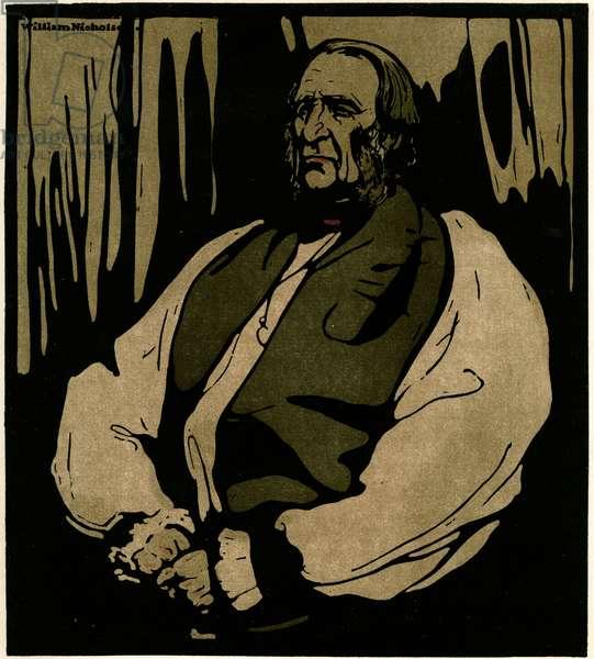 Dr Temple, The Archbishop of Canterbury, c.1898 (chromolitho)