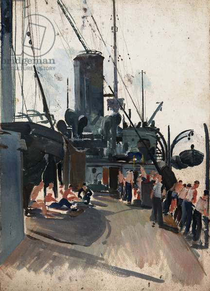 Study for Dunkirk Paddle Boat, c.1940 (oil on paper)