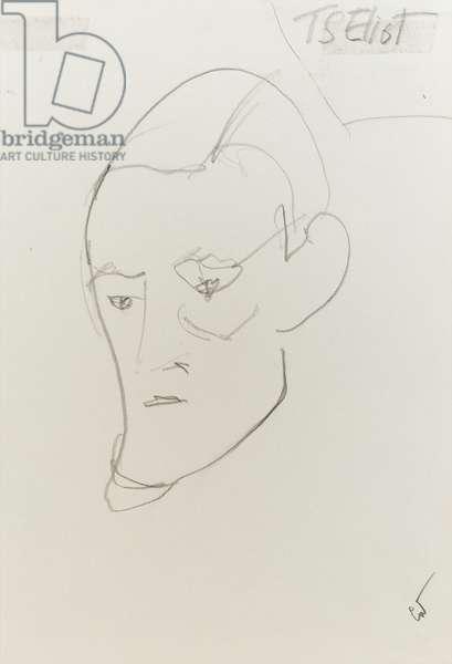 T. S. Eliot (pencil on paper)