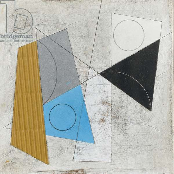 Construction, 1985 (alkyd on panel)