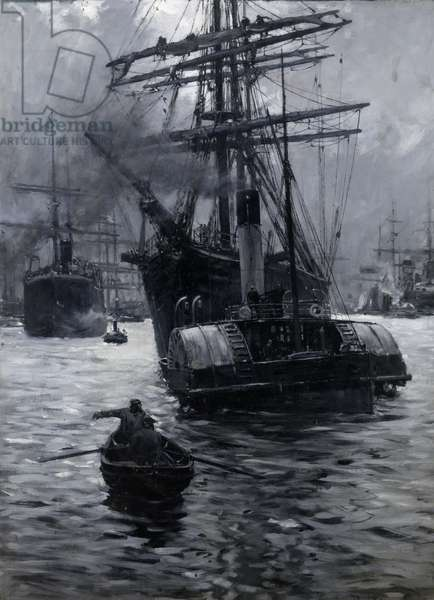 Home from the West'ard, 1890 (oil grisaille on board)