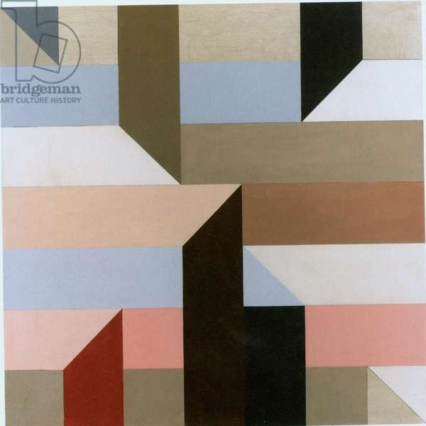 Grid fold, c.1987 (colour litho)