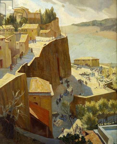 The Cattle Market Orvieto, 1922 (oil on canvas)
