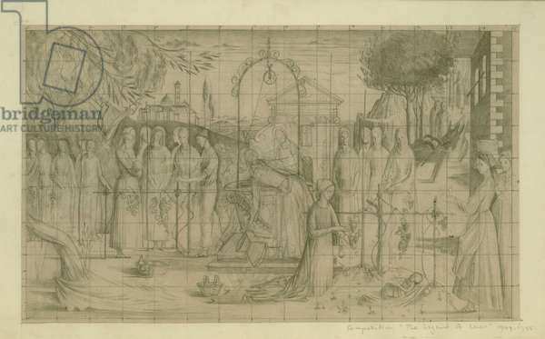 Study for The Legend of Ceres, inscribed with title and dated 1949-55 (pencil on squared paper)