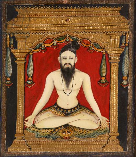 A sadhu (glue, dye & gold)