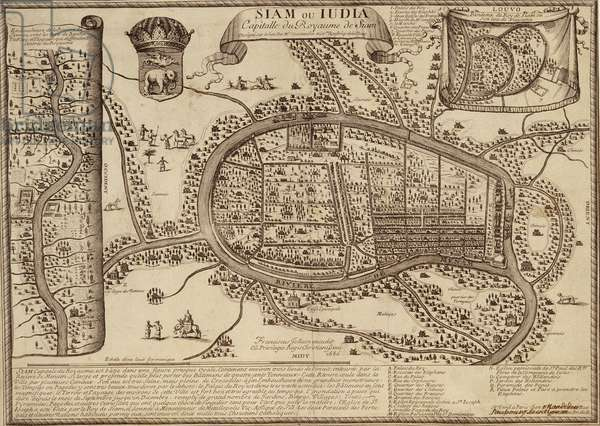 Map of Ayutthaya, 1686 (ink on paper)