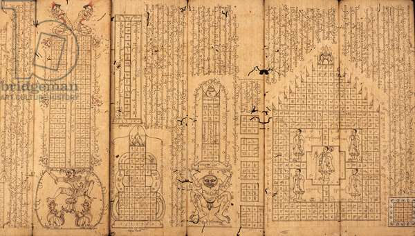 Burmese Manuscript on Astrology (pen & ink on paper)