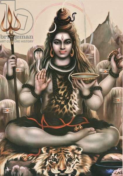 Shiva, c.1970 (colour litho)