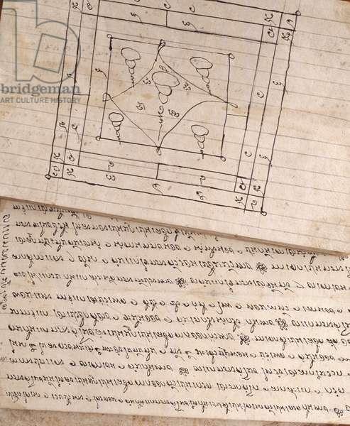 Manuscript on traditional medicine (pen & ink on paper)