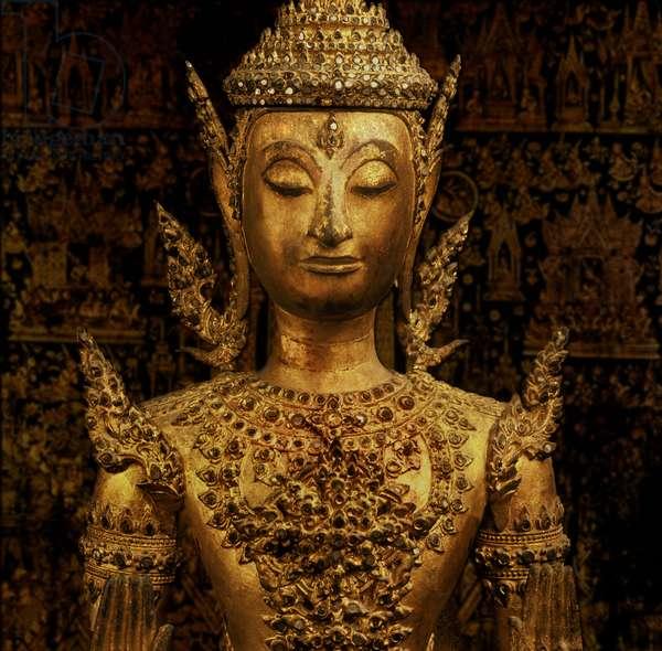 Buddha standing in Abhaya mudra, Rattanakosin style, mid 19th century (bronze)