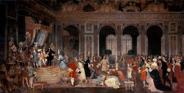 Louis XIV Receiving Ambassadors from Siam at Versailles, c.1865-67 (oil on canvas)