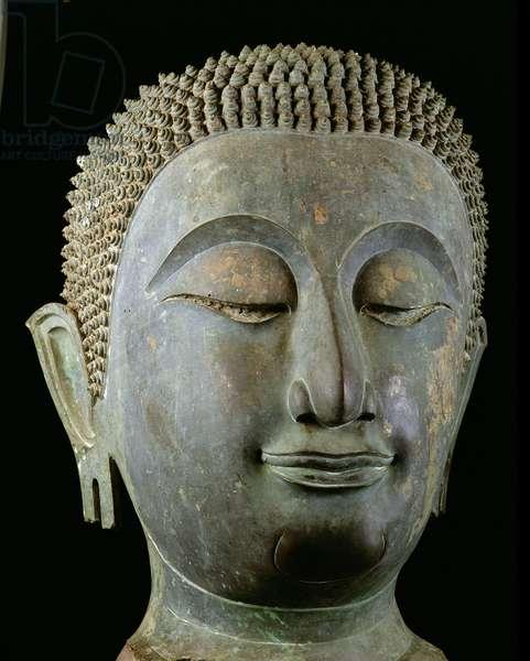 Head of a giant Buddha (bronze)