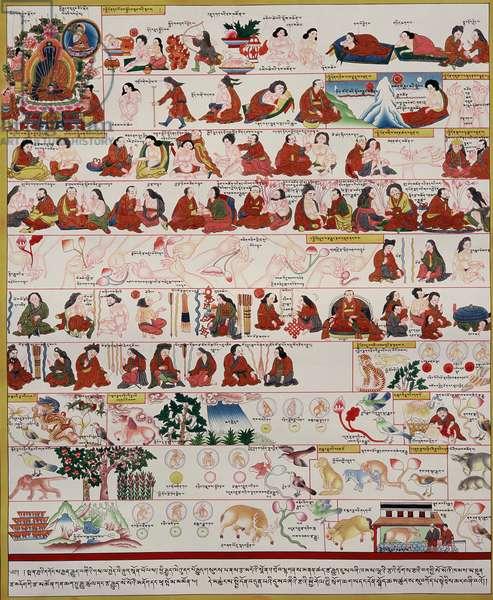 Manuscript on Tibetan medicine