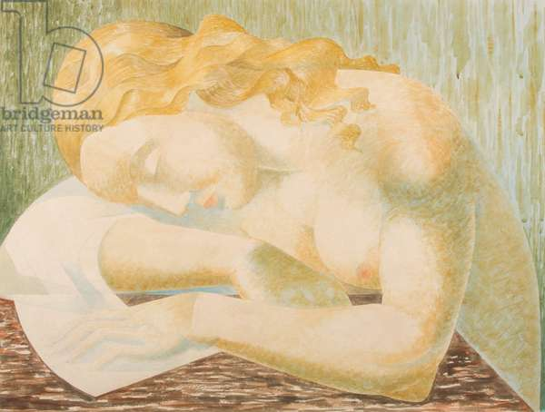 Woman asleep (w/c on paper)