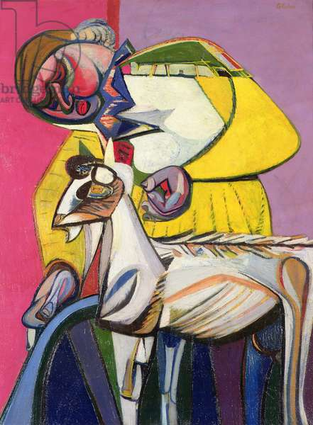 Woman with Goat (oil on canvas)