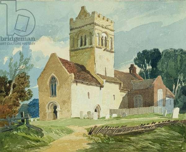 Gillingham Church, Norfolk (w/c on paper)
