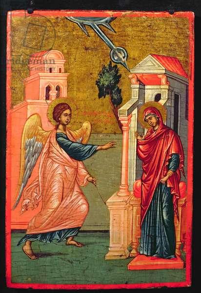Annunciation, Greek icon, late 17th century