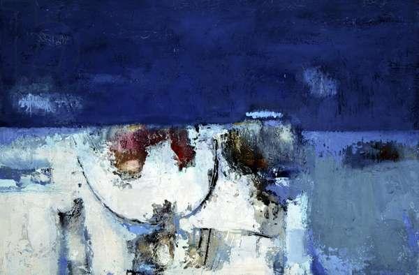 Primordial Landscape, Arran (oil on canvas)