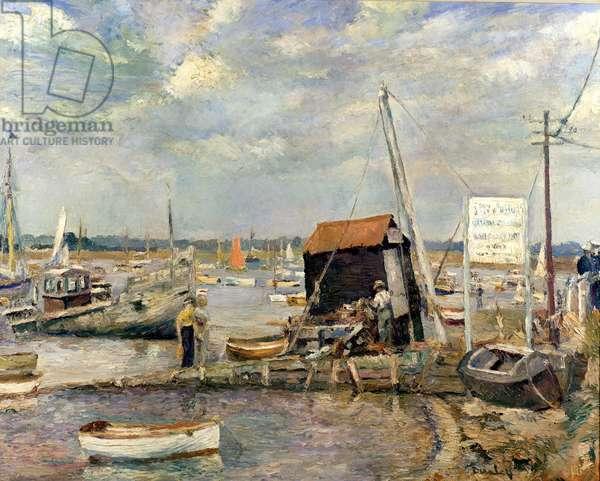 The Hard, Mersea (oil on canvas)
