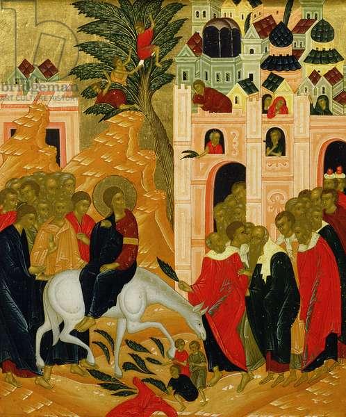 Christ's Entry into Jerusalem, icon