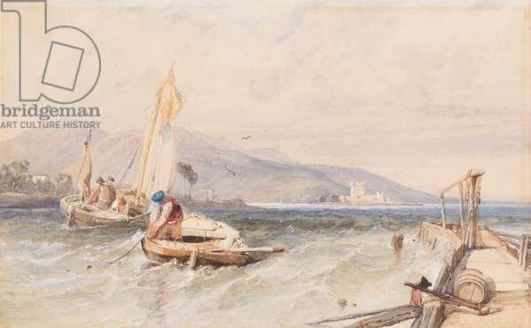 Castle Douglas, Loch Leven, 1849 (w/c on paper)
