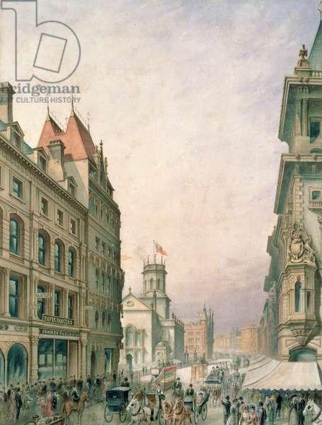 Church Street, Liverpool (w/c on paper)