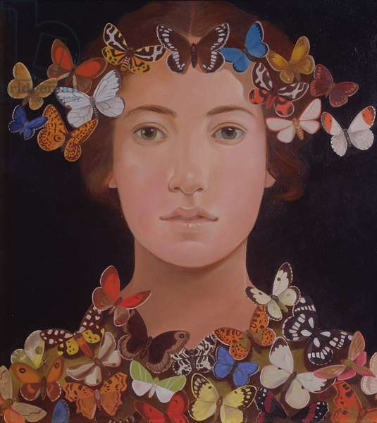 Butterfly Lover, 2003 (oil on board)