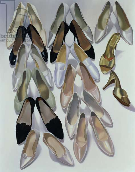 Still Life - Shoes, 1996 (oil on panel)