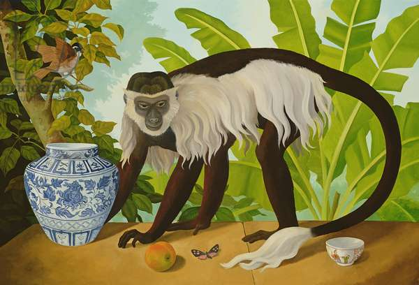Colobus Monkey (oil on canvas)
