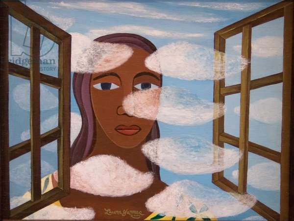 Woman in the Clouds, 2006 (acrylic on canvas)