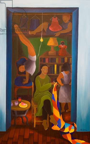 I live in a Closet, 2004 (acrylic on canvas)