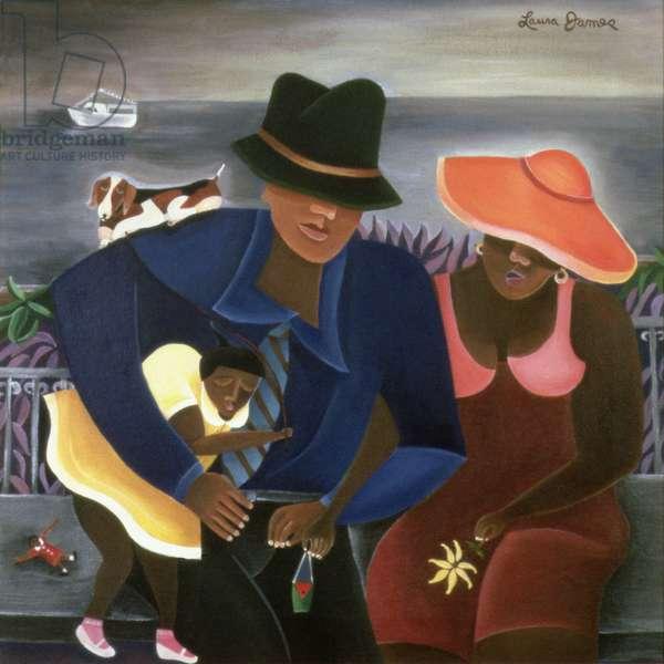 Sunday, 1998 (acrylic on canvas)