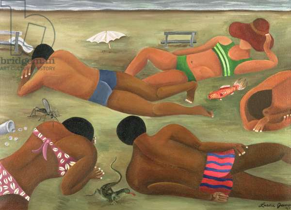 People Lying in the Sun, 1997 (acrylic on canvas)