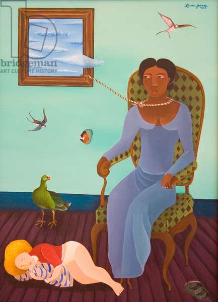 The Sitter, 2001 (acrylic on canvas)
