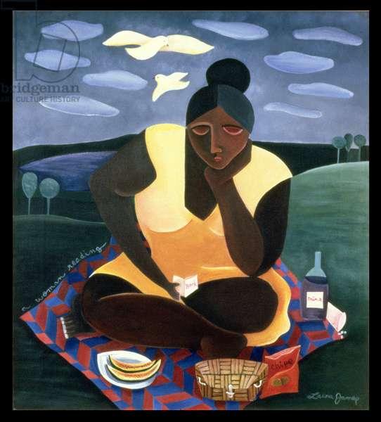 Woman Reading, 1997 (acrylic on canvas)