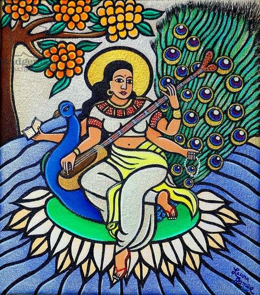 Devi Saraswati, 2011 (acrylic on canvas)