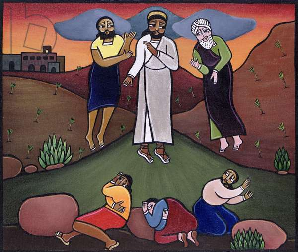 Christ's Vision in the Mount of Olives (acrylic on canvas)