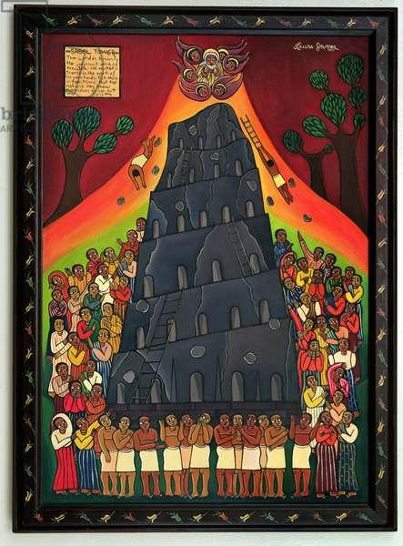 Babel Tower, 2002 (acrylic on canvas)