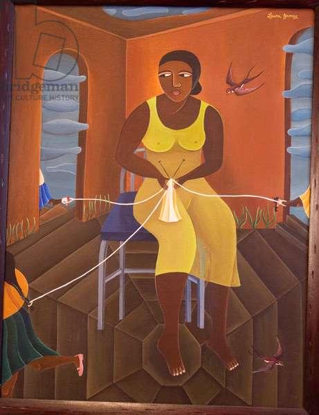Maypole Mother, 2001 (acrylic on canvas)