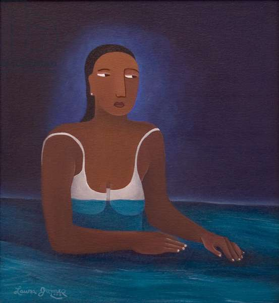 Woman in Water, 2004 (acrylic on canvas)