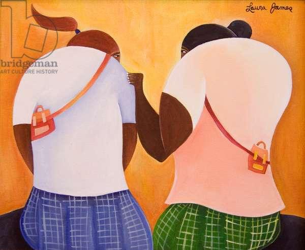 Friends, 1998 (acrylic on canvas)