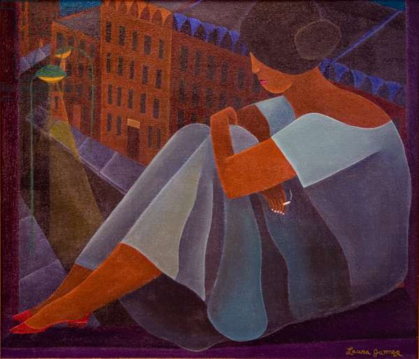 Woman Waiting, 1996 (acrylic on canvas)