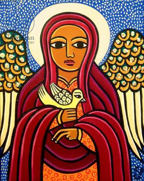 Guardian Angel (acrylic on wood)